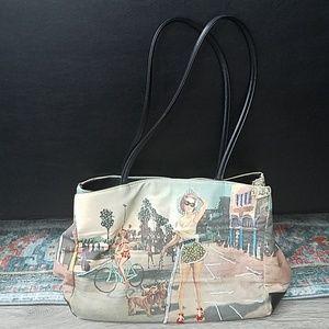 Handbags - Beaded print shoulder tote bag/purse.